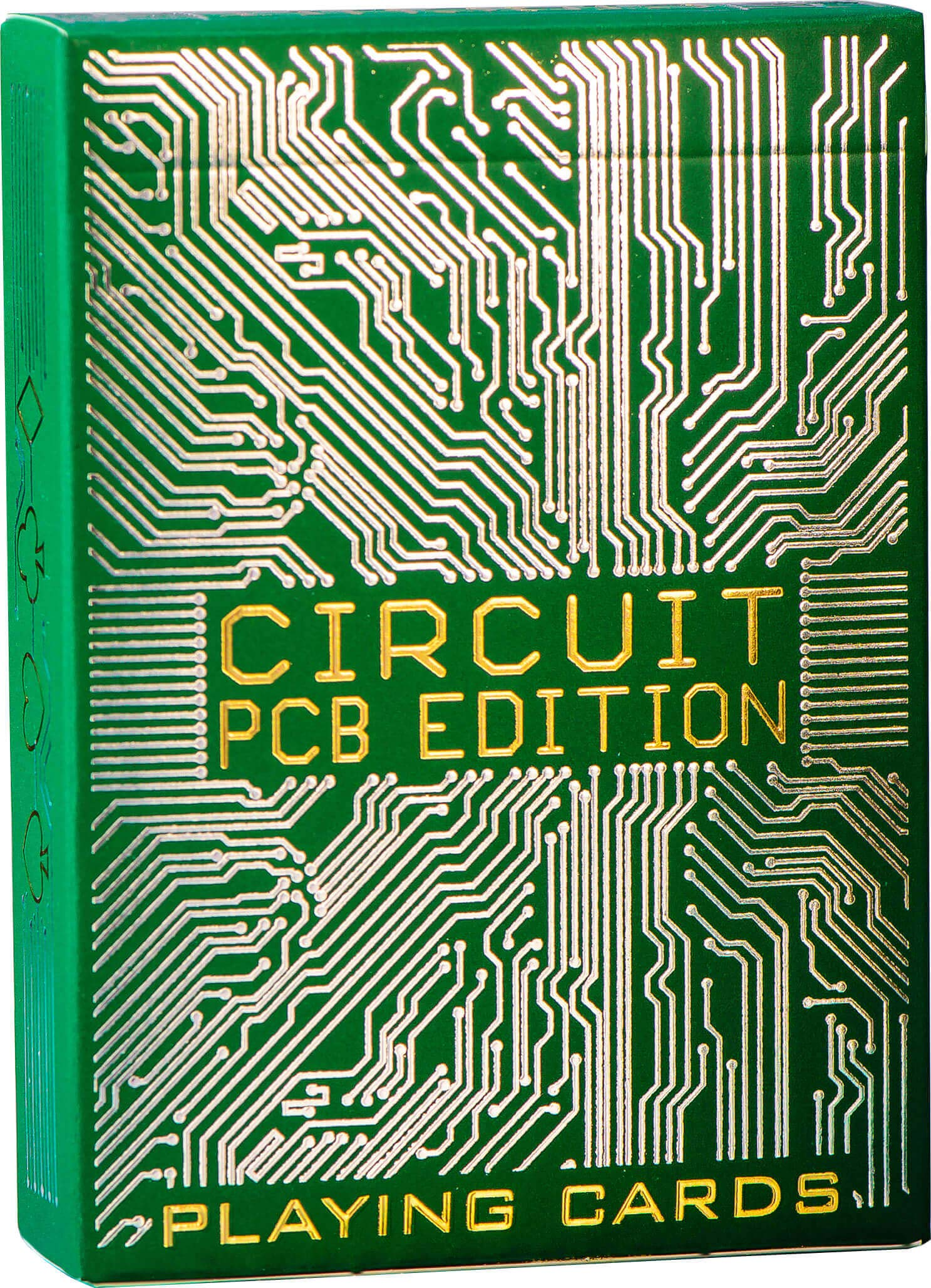 Circuit Playing Cards, Metallic Green Deck of Cards, Premium Card Deck, Best Poker Cards, Unique Bright Colors for Kids & Adults, Computer Themed, Standard Size by Elephant Playing Cards