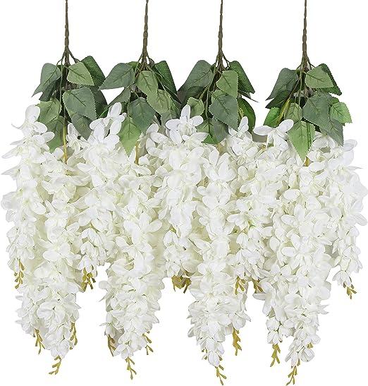 Amazon Com Duovlo Silk Wisteria Flower Artificial 2 13 Feet