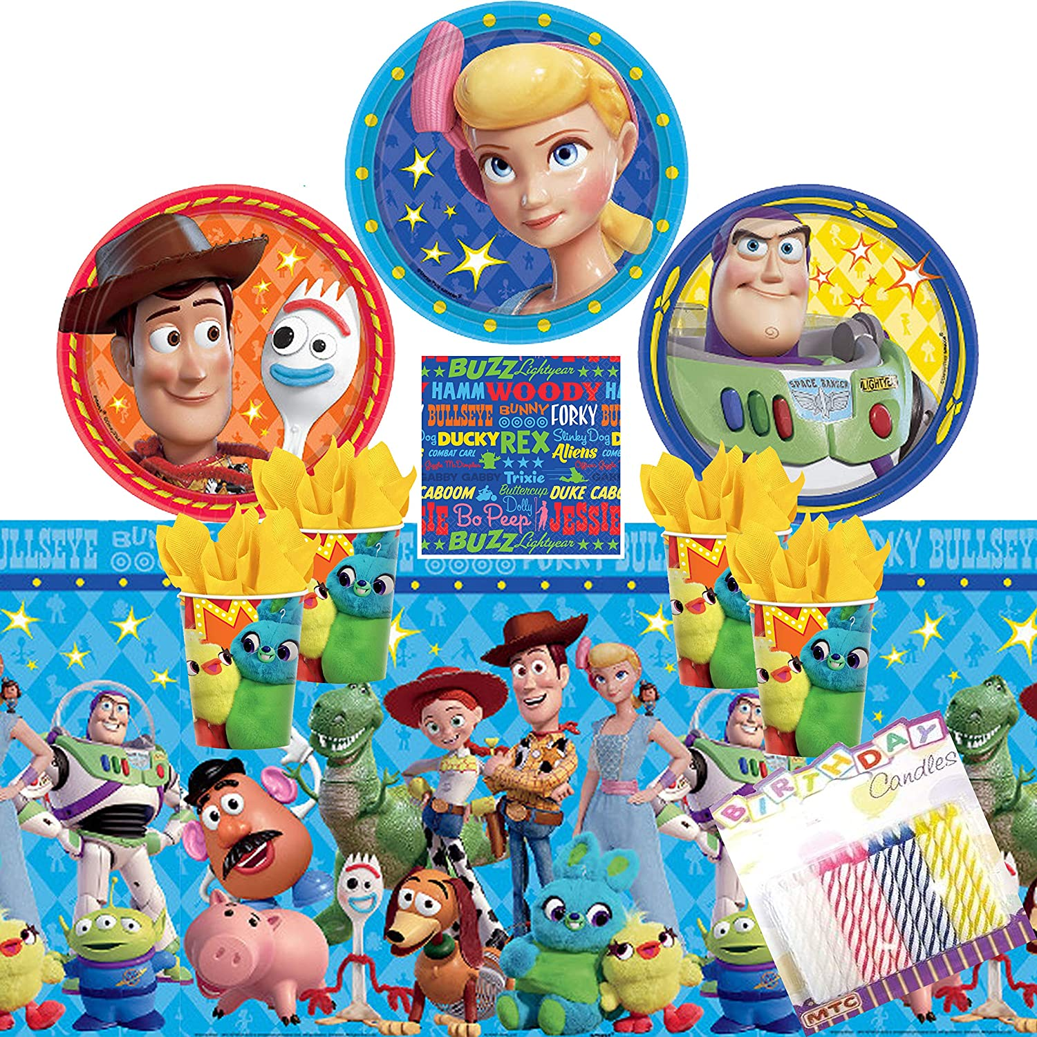 Toy Story Tableware Party Pack Plates Cups Napkins Invites Loots up to 10 people