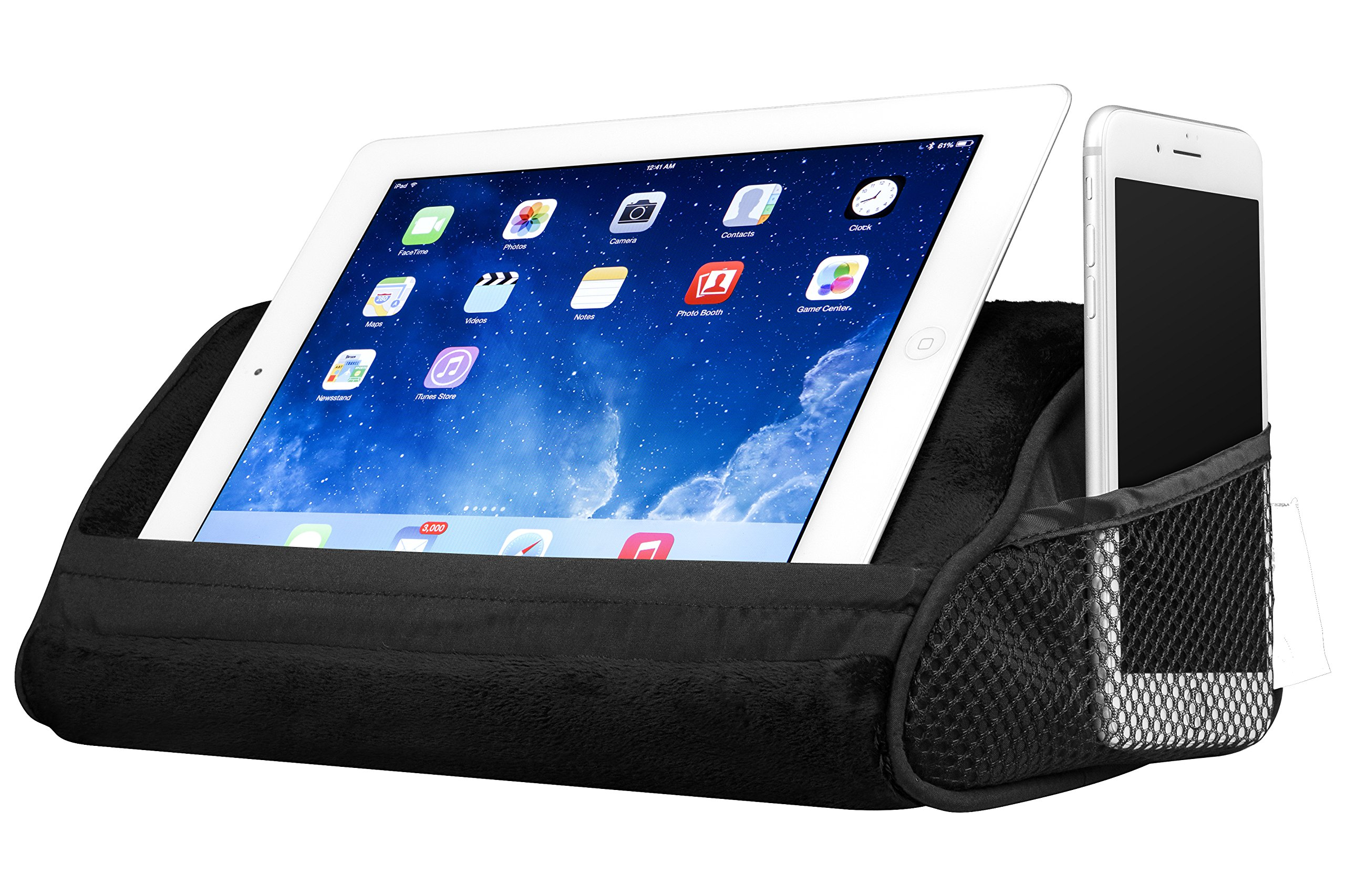 LapGear Travel Tablet Pillow, Tablet Stand - Black (Fits upto 10.5'' Tablet) by Lap Desk