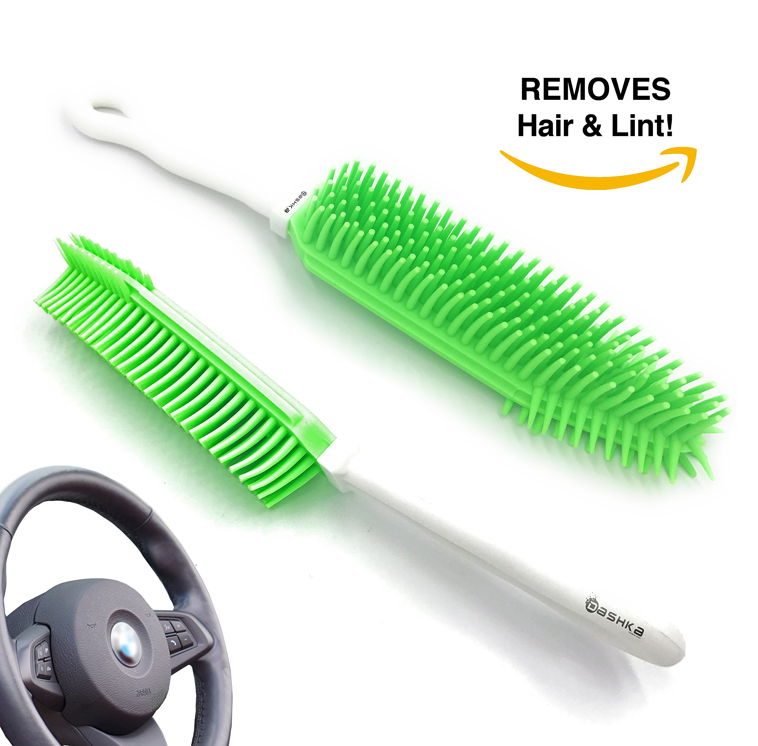 Best Car & Auto Detailing Brush for Pet Hair Removal and Car Upholstery Cleaner - Best Pet Hair Remover for Dog And Cat Hair - Great On Furniture (Bedding, Carpets, Blankets) – Use As A Lint Remover f