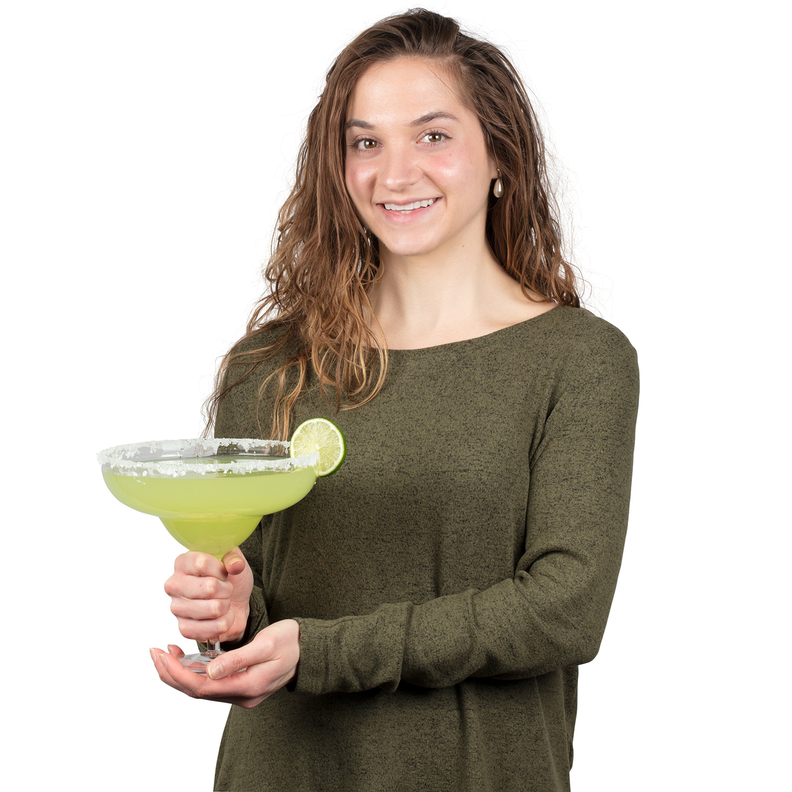 Extra Large Giant Cinco De Mayo Margarita Glass - 34oz - Fits about 3 typical margaritas! by Royal Lush (Image #5)