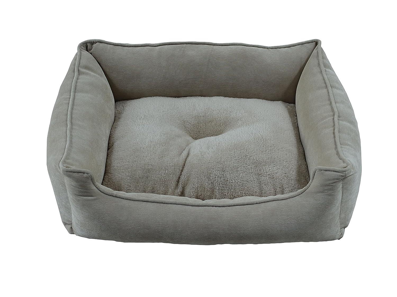 L King Queen Rectangular Corduroy & Plush Pet Bed (L)