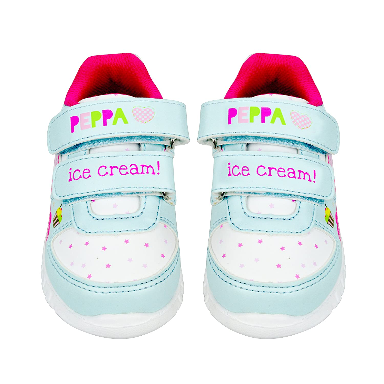 PAXT306-AM-5 Peppa Pig Girls Sneakers with Flashing Lights Pink