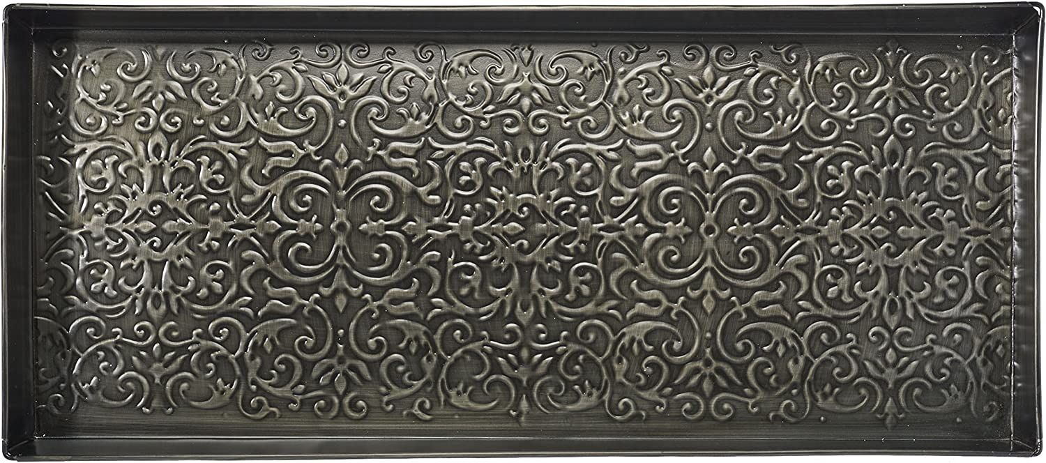 HF by LT Enchanted Scroll Pattern Metal Boot Tray, 30