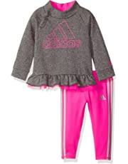 6869dfb55596 adidas Baby Girls Hoodie and Legging Set