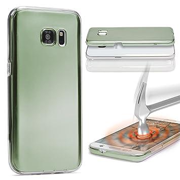 Urcover® Sony Xperia M5 | Funda Carcasa 360 Grados Ultra Slim Metálico | TPU en Verde | Case Cover Protección Completa Smartphone Móvil Accesorio