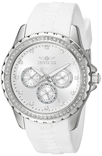 Amazon.com  Invicta Women s Angel Stainless Steel Quartz Watch with ... 5b7c5a50583