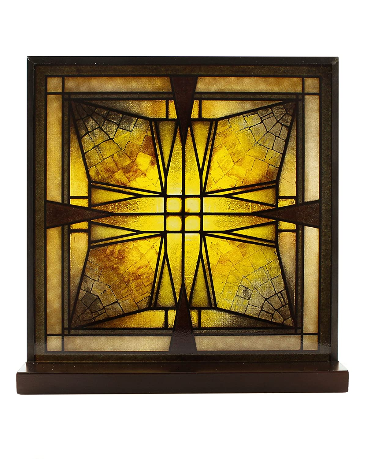 Frank Lloyd Wright Thomas Entry Ceiling Light Stained Glass YTC Summit