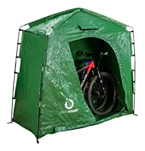 YardStash The IV: Heavy Duty, Space Saving Outdoor Storage Shed Tent for Bicycle Storage, Outdoor Equipment Storage, Garden Tool Storage, Pool Storage, Cushion Storage and More