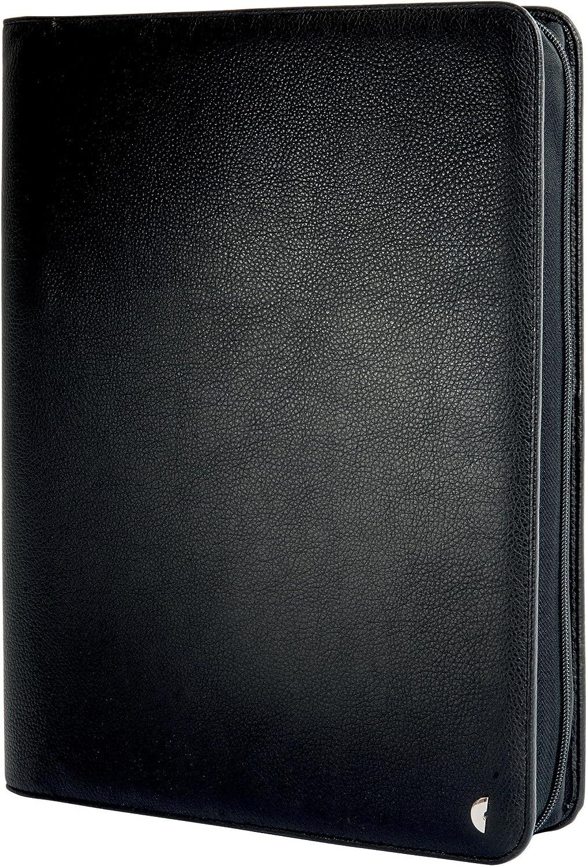 Chronoplan 50110 nachf/üllbarer Terminplaner // Organizer // Terminkalender Mappe aus Kunstleder Format Mini 110x145x20 mm schwarz mit Lasche, Ringbuch mit Kalender 2020