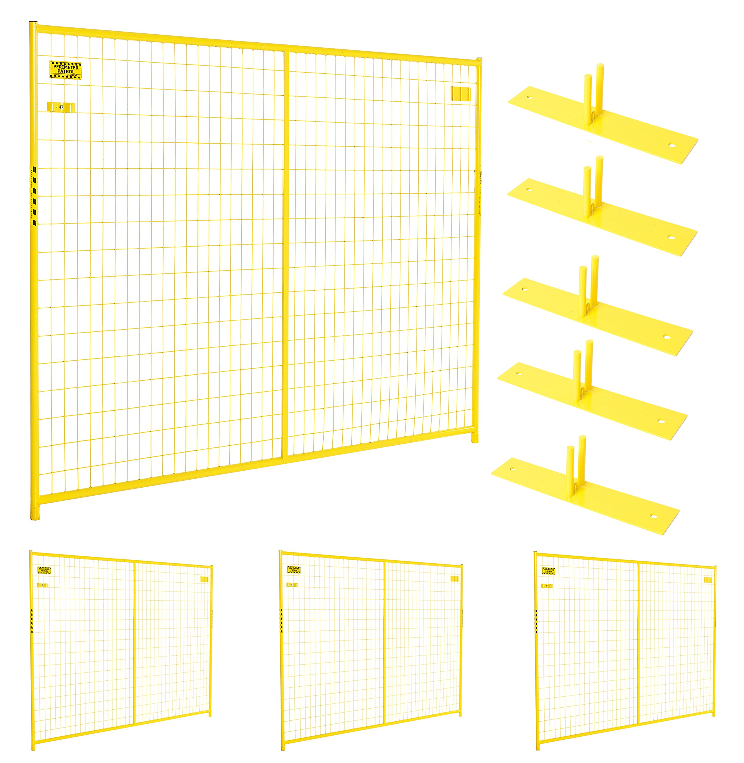 Perimeter Patrol Portable Security Fence Panel Kit (7.5'W x 6'H)