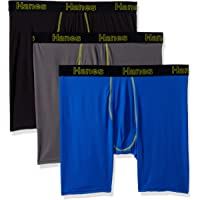 Hanes Men's Comfort Flex Fit Lightweight Mesh Boxer Brief 3-Pack