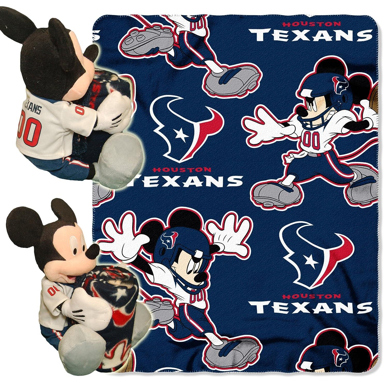 NFL Houston Texans Mickey Mouse Pillow with Fleece Throw Blanket Set