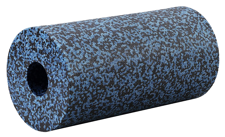 BODYMATE Rodillo para Tejido fascial Classic con E-Book Libro electrónico I Dureza extradura I Gris-Azul/Negro I Longitud 30 cm o 45 cm I Diámetro 15 ...