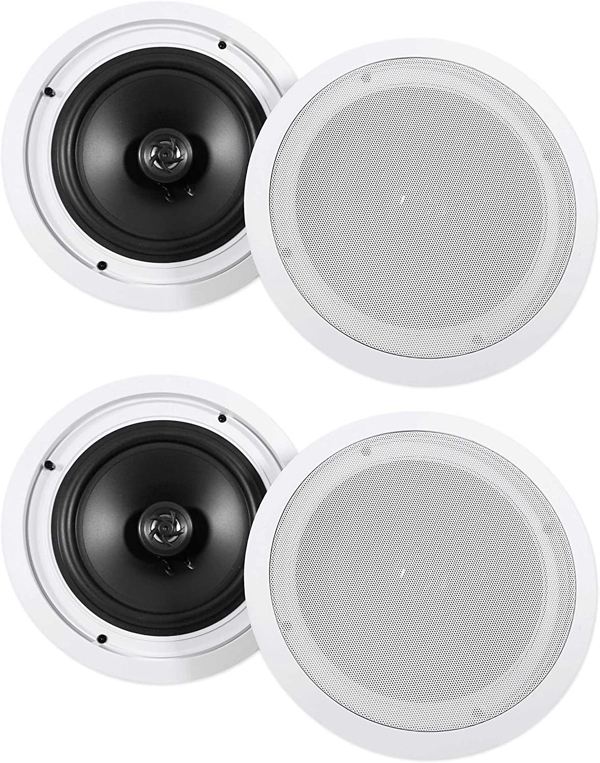 "(4) Rockville HC85 8"" Inch 700 Watt in-Ceiling Home Theater Speakers 8 Ohm"