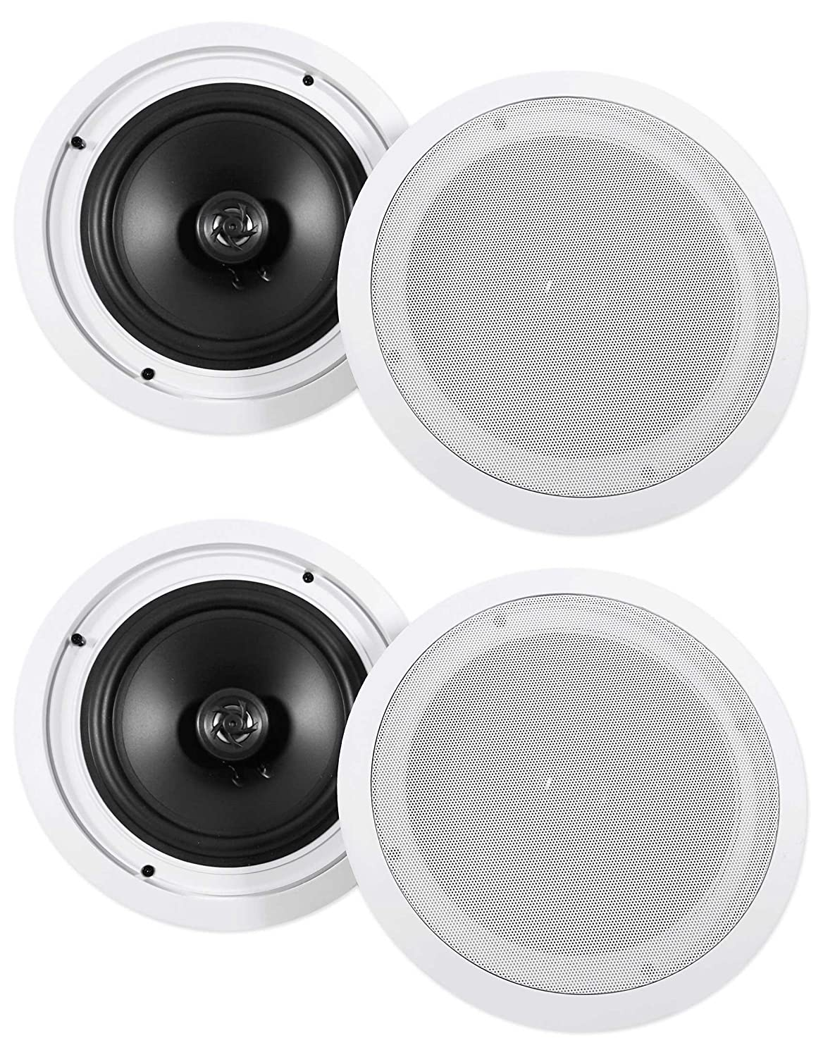 Cool 4 Rockville Hc85 8 Inch 700 Watt In Ceiling Home Theater Speakers 8 Ohm Interior Design Ideas Helimdqseriescom