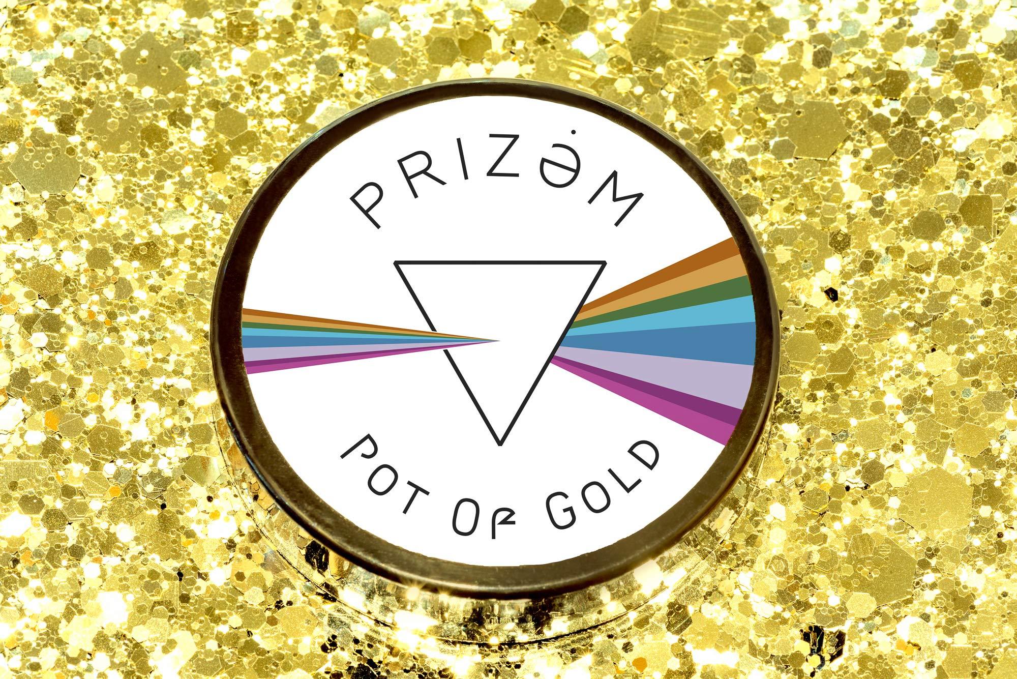 Pot of Platinum Gold ▽ 60g ▽ Festival Glitter , Chunky Glitter , Makeup Glitter , Face Glitter , Body Glitter , Glitter Makeup , Hair Glitter , Cosmetic Glitter , Nail Glitter , Eyeshadow Glitter by Prizem