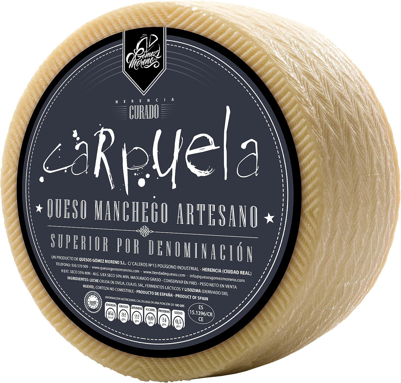 Queso D.O. Manchego Curado Pequeño Carpuela 1.2 KG: Amazon.es: Alimentación y bebidas