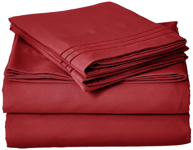 Elegant Comfort 1500-Thread-Count Egyptian Quality Microfiber Yarn California King 4-Piece Sheet Set, Aqua 511RW- 1500 Cali K AQUA