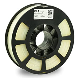 KODAK Tough PLA Pro 3D printer filament NATURAL color, +/-0.03 mm,750g (1.6lbs) Spool,1.75 mm. Lowest moisture premium filament in Vacuum Sealed Aluminum Ziploc bag. Fit Most FDM Printers