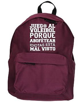 HippoWarehouse Juego al Voleibol Porque Abofetear Idiotas Está Mal Visto kit mochila Dimensiones: 31 x 42 x 21 cm Capacidad: 18 litros: Amazon.es: Equipaje