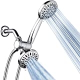 AquaDance High Pressure 3-way Twin Shower Combo Lets You Enjoy Two 4-Inch 6-Setting Showers Separately or Together! Officially Independently Tested to Meet Strict US Quality & Performance Standards!