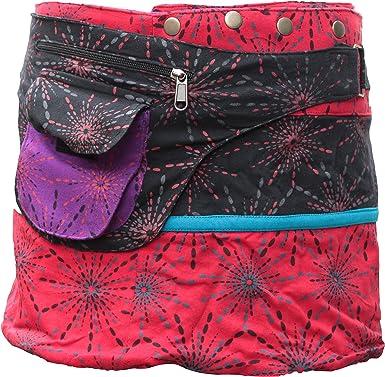 Shopoholic Fashion - Falda para mujer envolvente reversible estilo ...