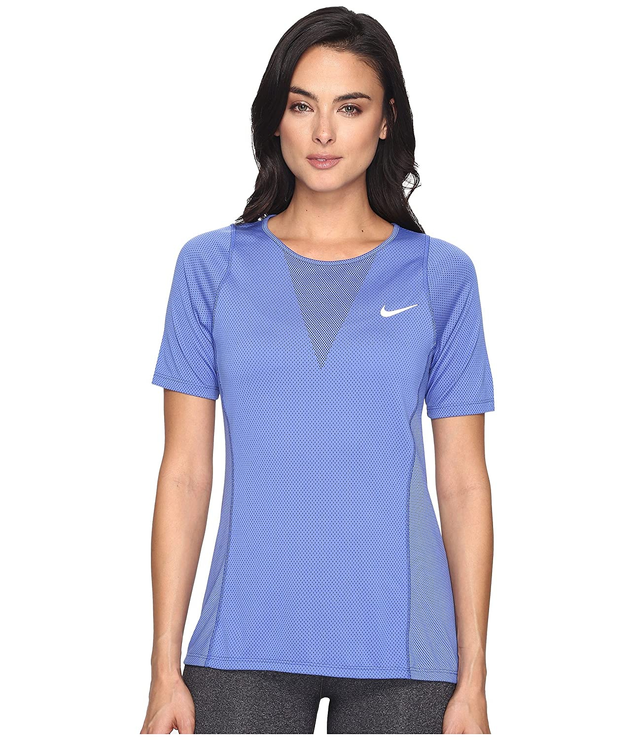 [ナイキ] Nike レディース Zonal Cooling Relay Short Sleeve Running Top トップス [並行輸入品] XL Comet Blue/Reflective Silver B01NB180JT