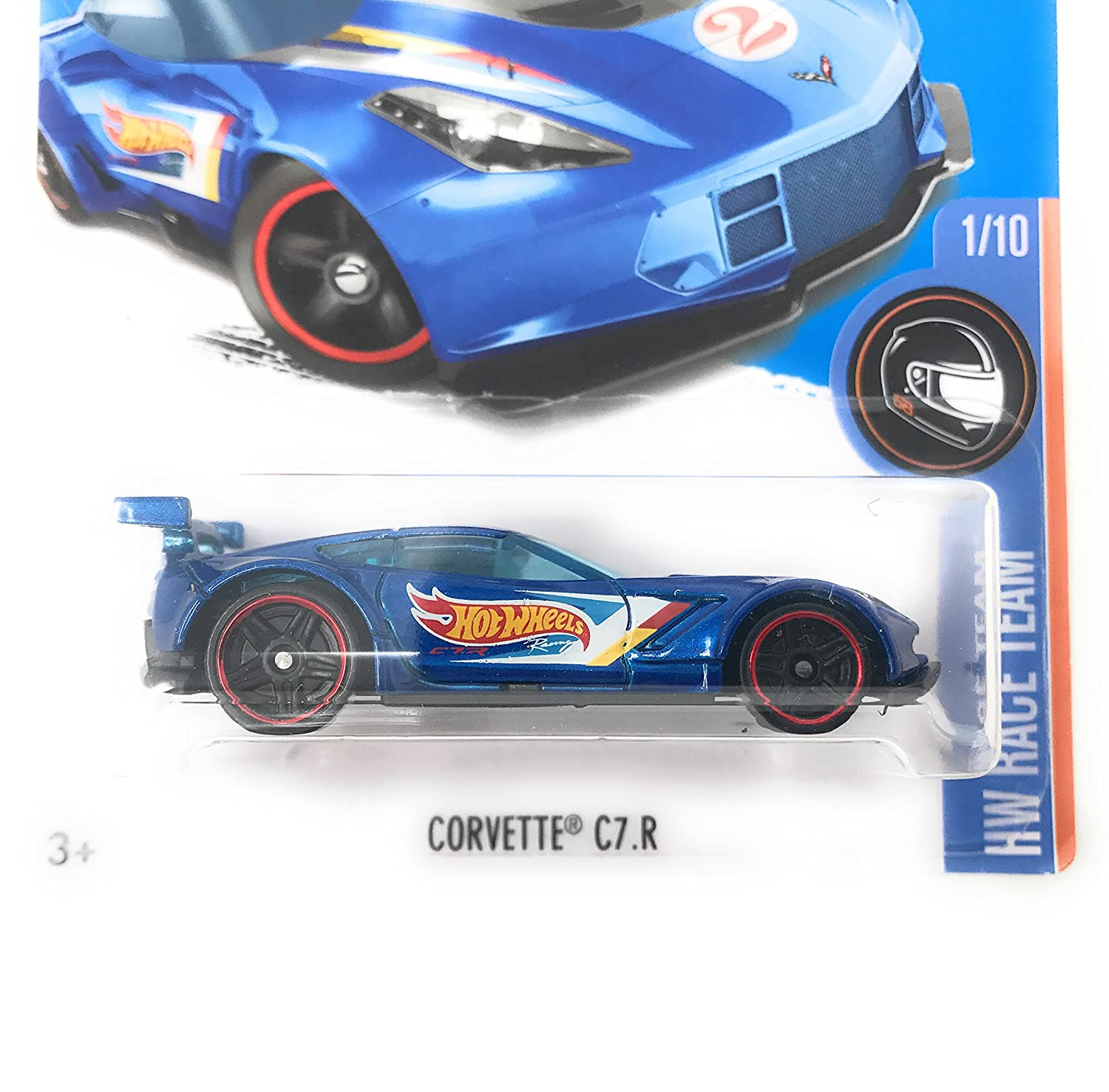 Amazon Hot Wheels 2016 HW Race Team Corvette C7 R 1 250 Blue