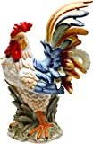 "StealStreet SS-CG-31980 15.75"" Porcelain Painted Colorful Rooster Bird Figurine Statue"