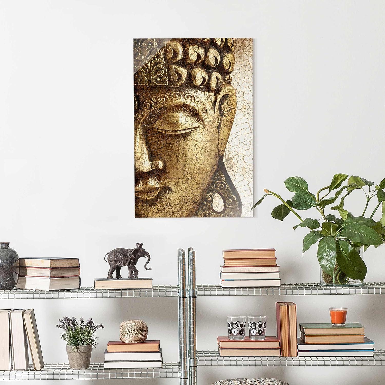 PPS. Imaging Druck Glas auf Glas Druck Art Wand – Vintage Buddha – Hohe 3  2 Druck auf Glas, Glas Druck, Glas Bild, Wandbild, Glas Bild, Wandbild, Glas Wandbild, Glas-, Wandbild, Dimension HxB  60 cm x 40 cm 434162