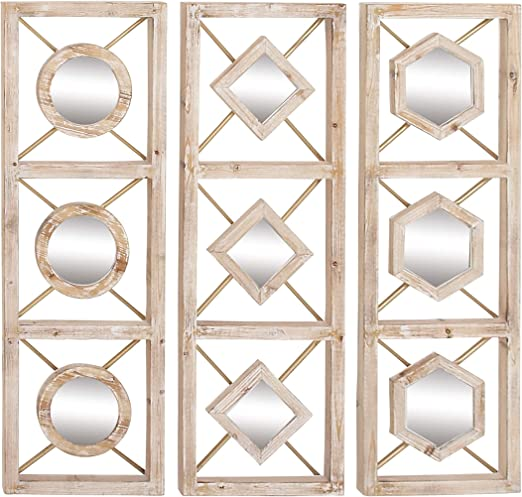 Mirror Wall Decor Set Of Three from images-na.ssl-images-amazon.com