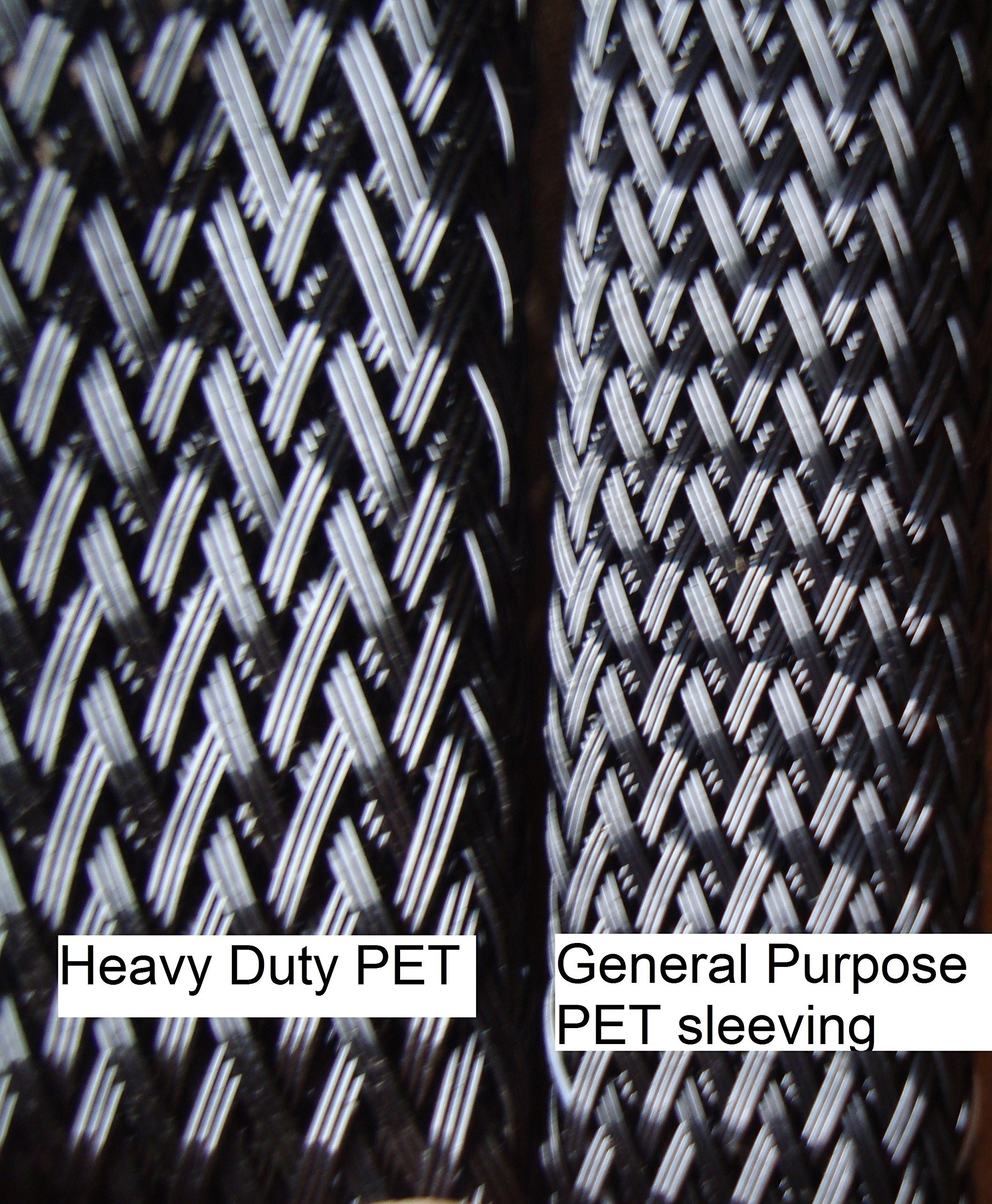3'' Heavy Wall Braided sleeving (100ft/spool) - Black