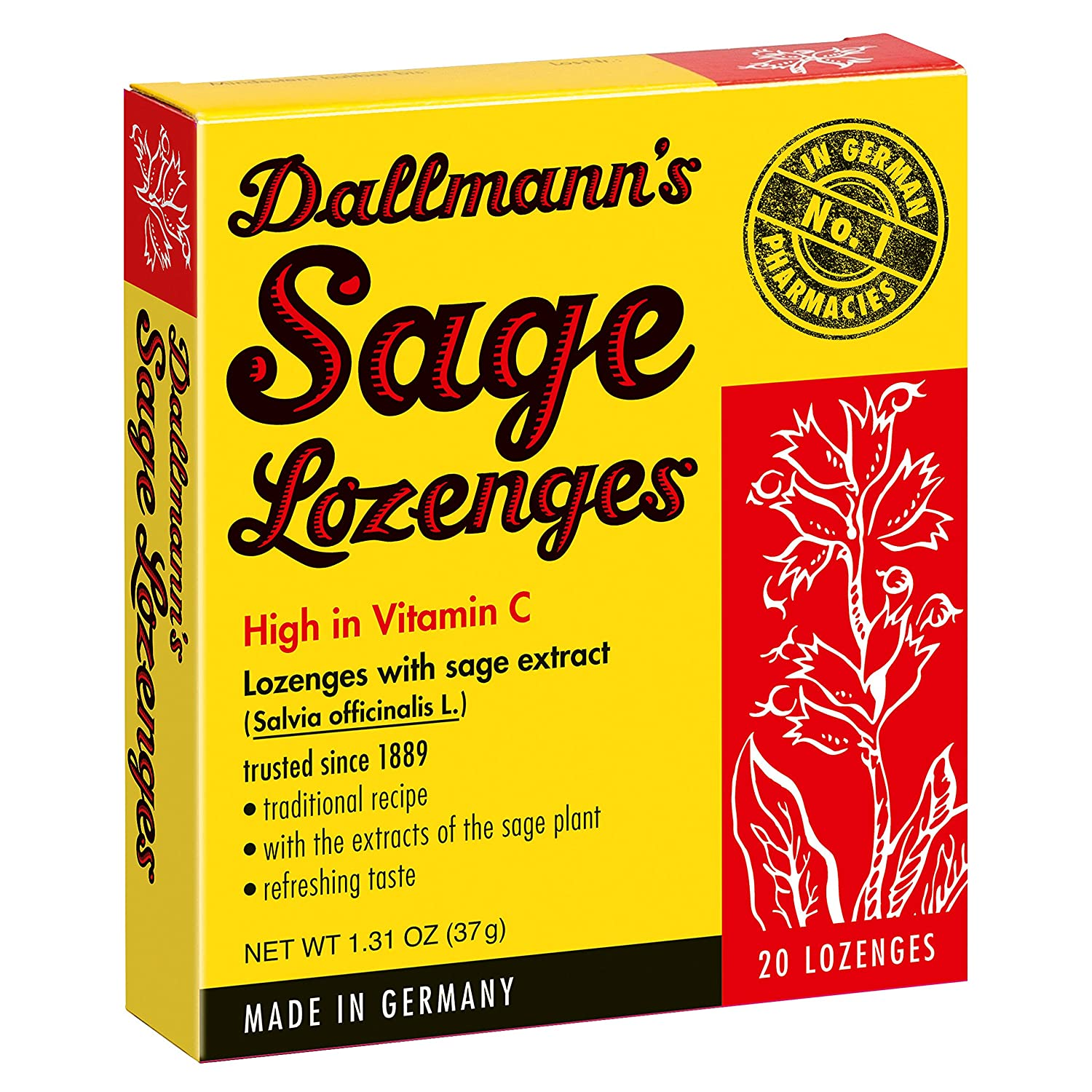 Sage (lozenges) - an effective tool in the fight against diseases of the throat 40