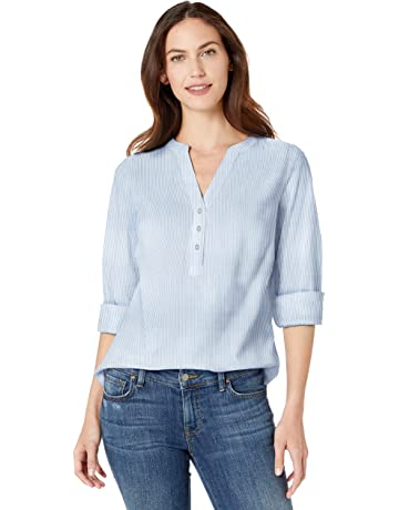 7015c5df28d99f Amazon Essentials Women's Long-Sleeve Cotton Popover Shirt