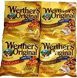Werther's Original Sugar-Free Candies Bundle - 4 Items: Sugar-Free Hard Candies and Sugar-Free Caramel Coffee Hard…