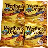Werther's Original Sugar-Free Candies Bundle - 4 Items: Sugar-Free Hard Candies and Sugar-Free Caramel Coffee Hard Candies