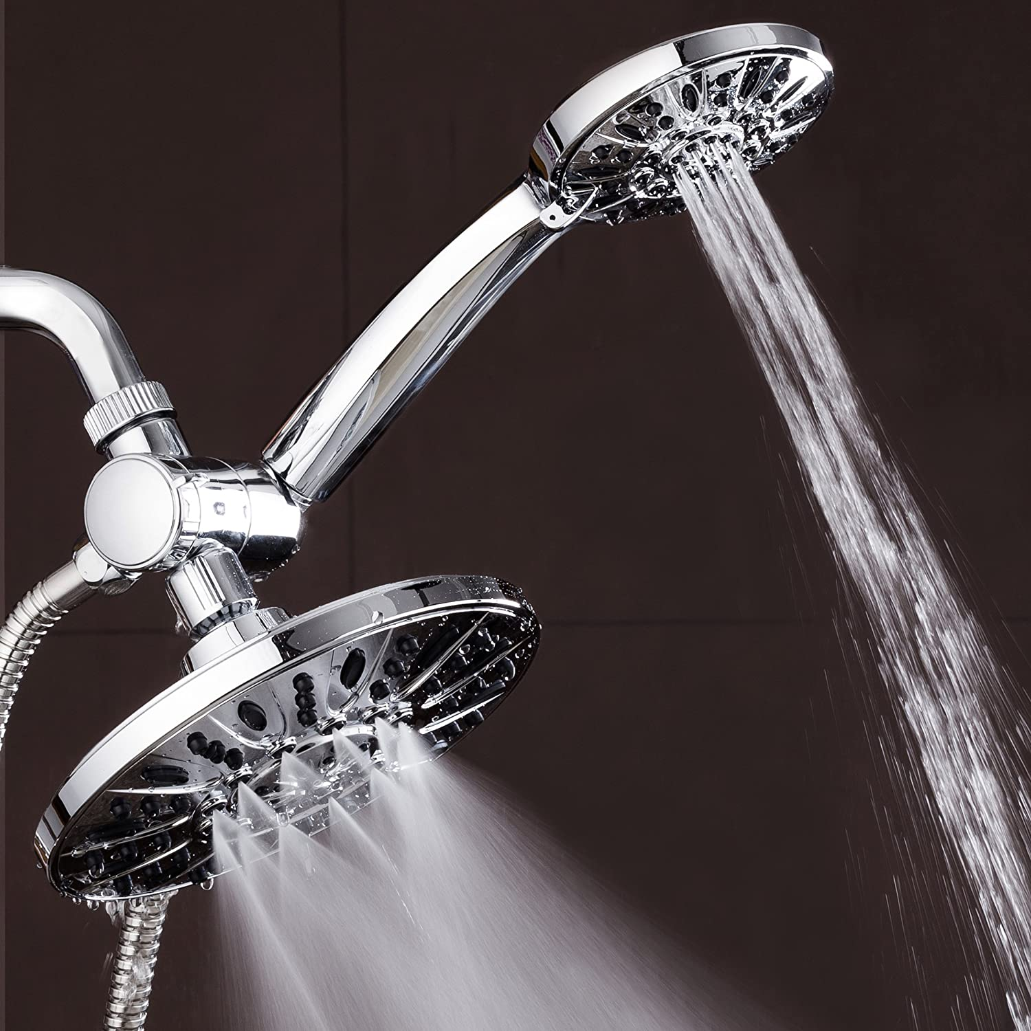 AquaDance 7 Premium High Pressure 3-Way Rainfall Combo for The Best of Both Worlds Oil Rubbed Bronze Finish Enjoy Luxurious Rain Showerhead and 6-Setting Hand Held Shower Separately or Together