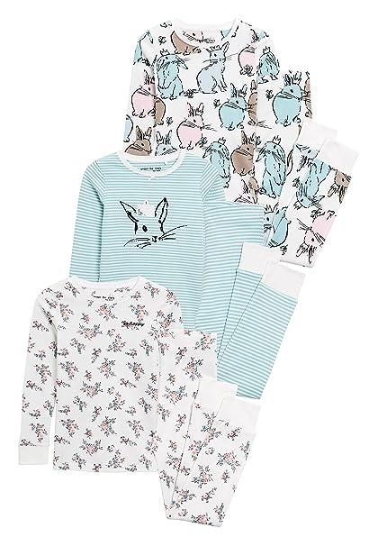 next Niñas Pack De Tres Pijamas Abrigados con Diseño De Conejitos (9 Meses - 8