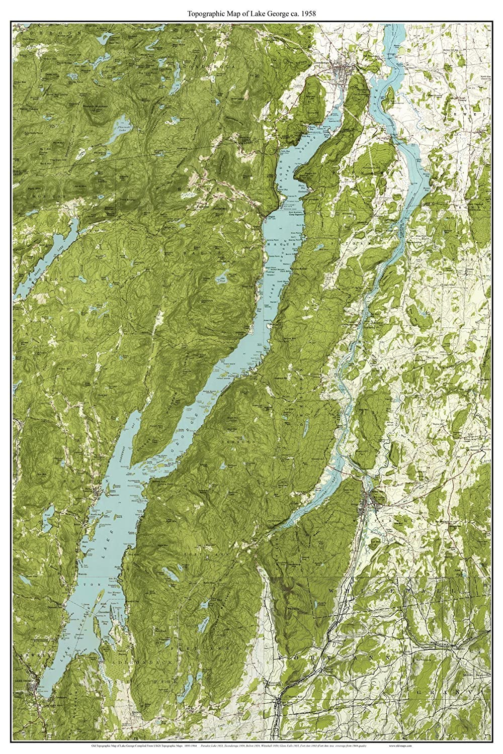 Amazon.com: Lake George - 1958 USGS Old Topographic Map ...