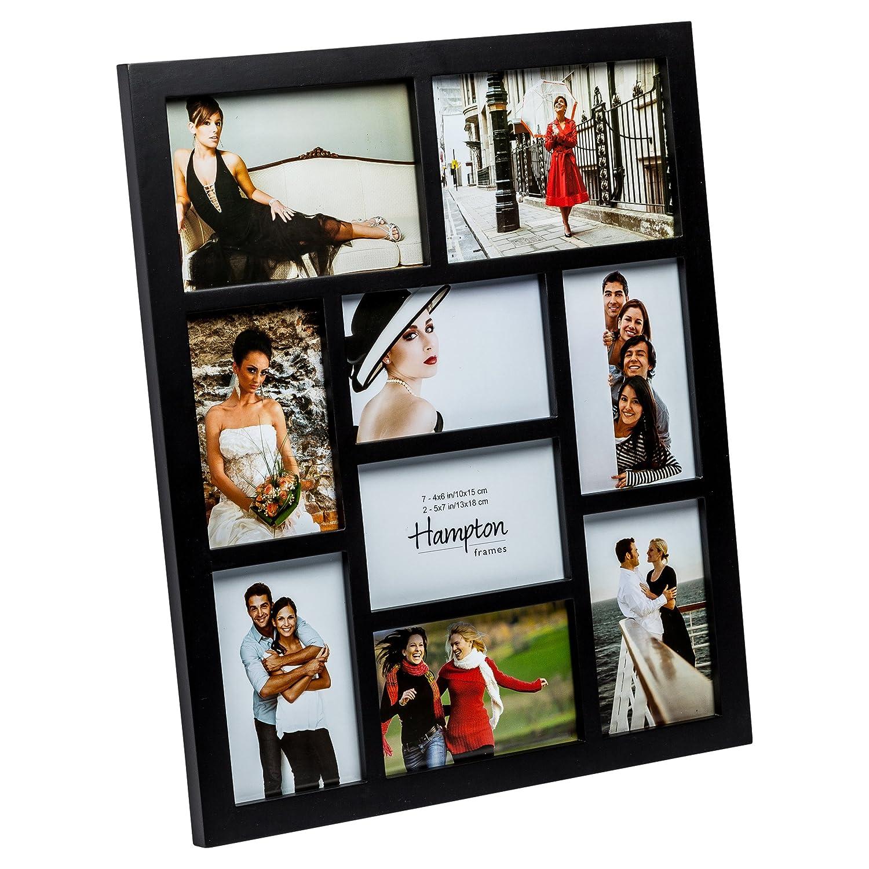 Amazon.de: Hampton Frames 1232BLK9 Gallery Mehrfach-Bilderrahmen ...