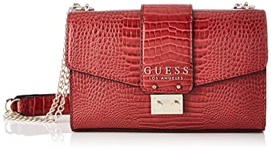Guess Sandy, Borsa a tracolla Donna, Rosso (Red StudsRust