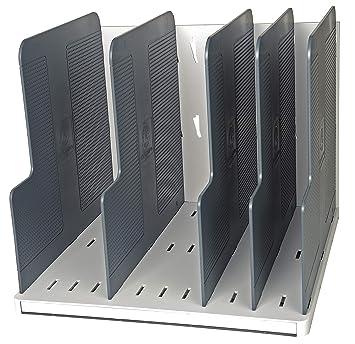 Exacompta 390740D - Clasificador vertical para formato A4, clásico con 5 placas de separación, color gris: Amazon.es: Oficina y papelería
