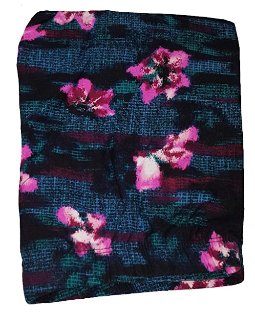 281520e225061 No Boundaries Abstract Floral Black Super Soft Sueded Ankle Legging -  X-Large
