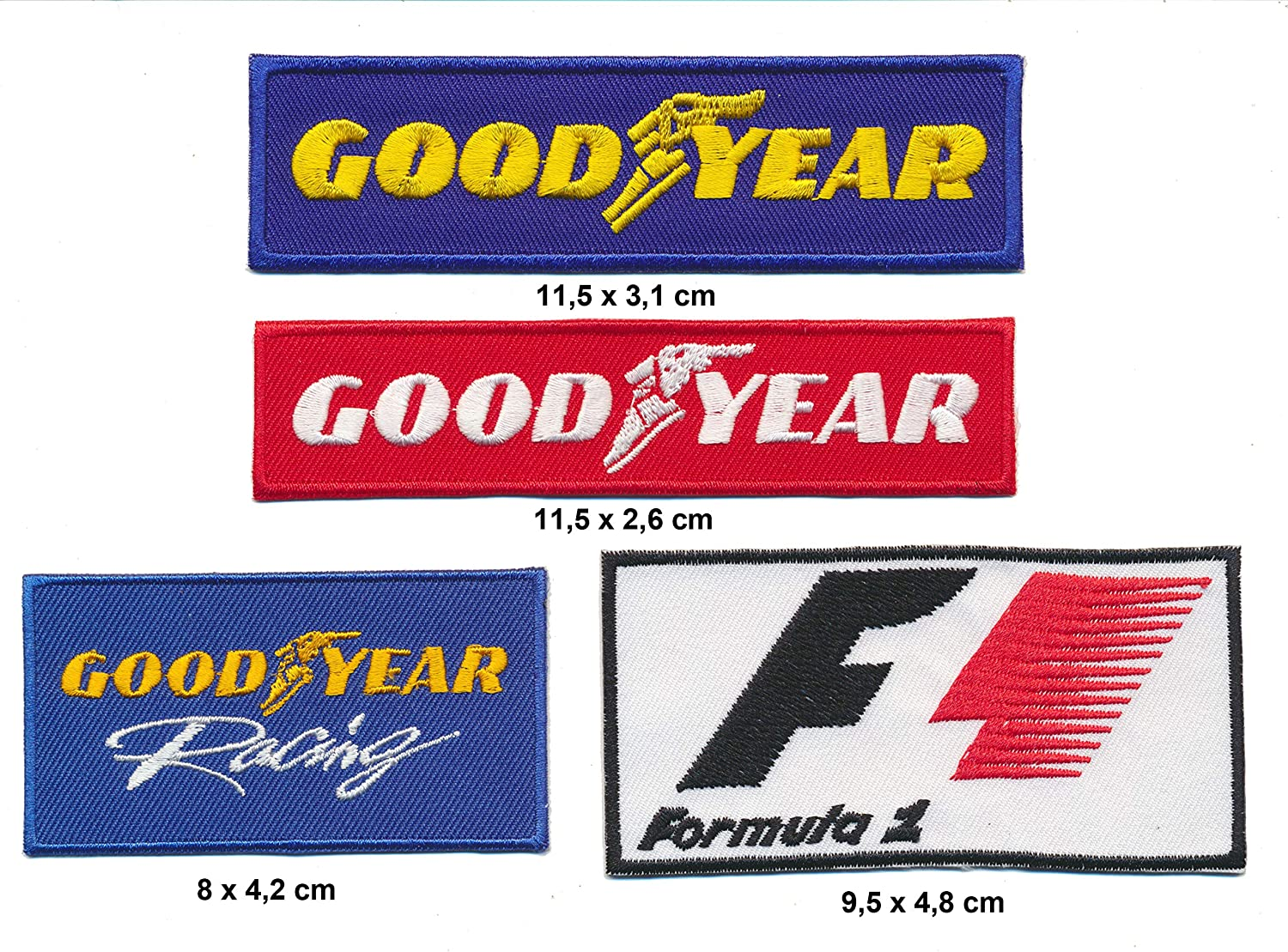 Racing Classics Good Year F1 Formel 1 Aufn/äher Aufb/ügler Patches 4 St/ück Set TURBOVERSAND