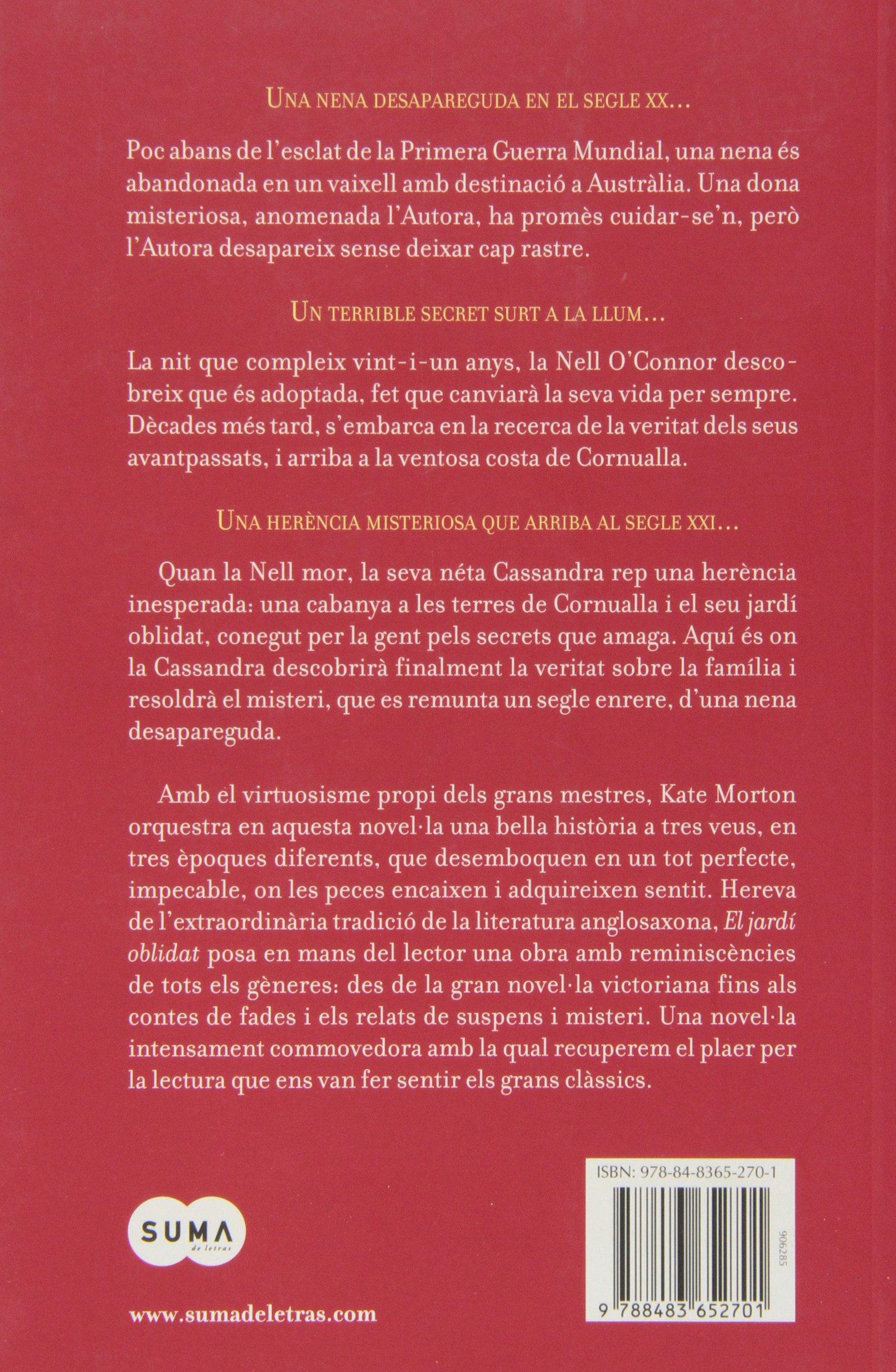 El jardín olvidado (catalán) (Femenino singular): Amazon.es: Morton, Kate: Libros