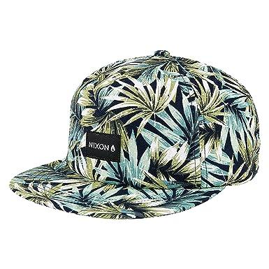 7b07d55f Amazon.com: NIXON Unisex Tropics Snapback Hat Navy/Pacific Blue One Size:  Clothing