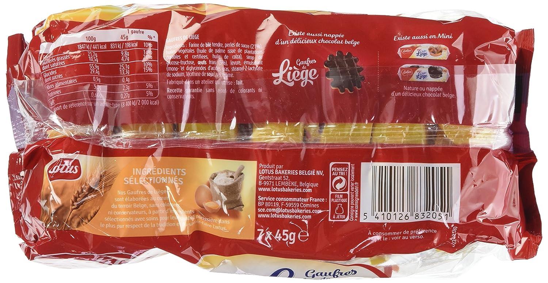 LOTUS Gaufre de Liège 7 x 1P 315 g - Lot de 6  Amazon.fr  Epicerie 9c10e888f0a
