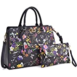 Women Handbags, Large Designer Lady Satchel Multi-Pockets Shoulder Bag Fashion Tote w/Wallet Set